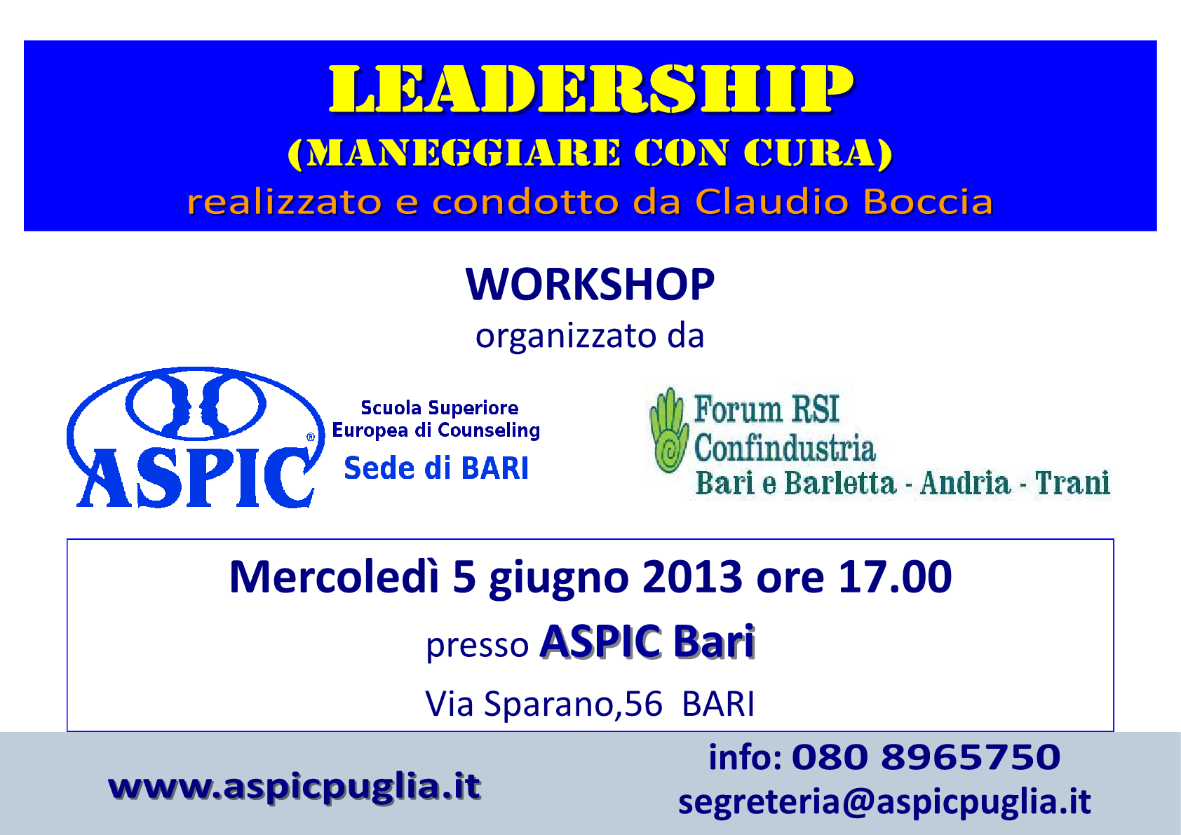 locandina Workshop Leadership