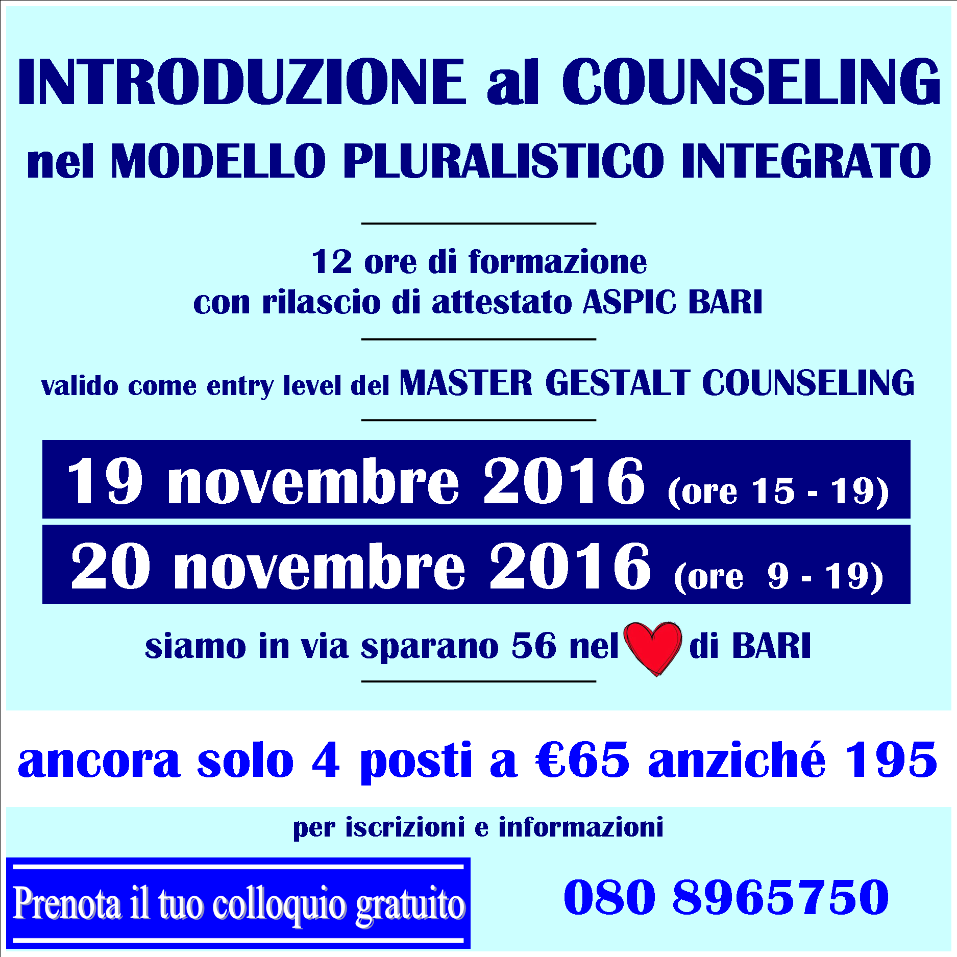 Counseling nel MPI 2016