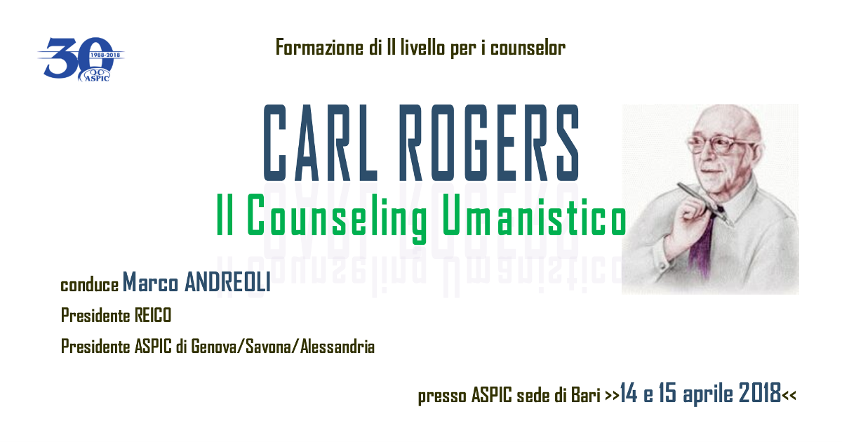 CARL ROGERS - Il Counseling Umanistico 2018