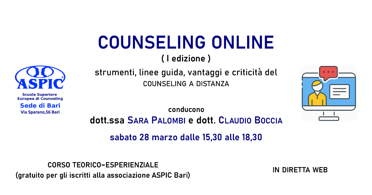 COUNSELING ONLINE (I edizione)