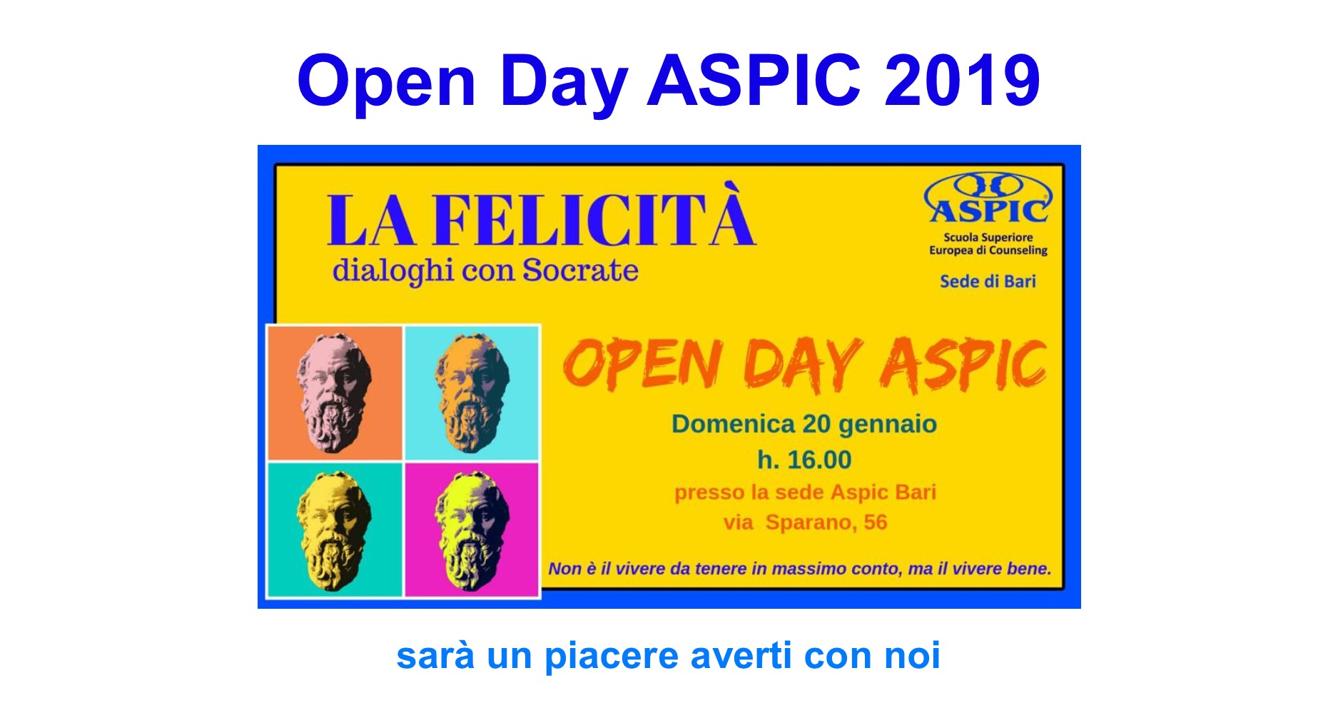 Open Day ASPIC 2019